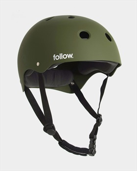Follow Safety First Watersports Helmet, Large Olive 2021