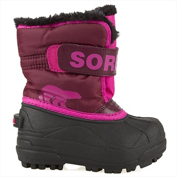 Sorel Snow Commander Kid's Snow Boots, UK Child 10 Purple Dahlia/Pink