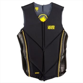 Liquid Force Watson Wakeboard Impact Vest, Small Black Yellow