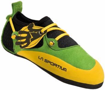 La Sportiva Stickit Kids Rock Climbing Shoe UK 7-8 Yellow/Green