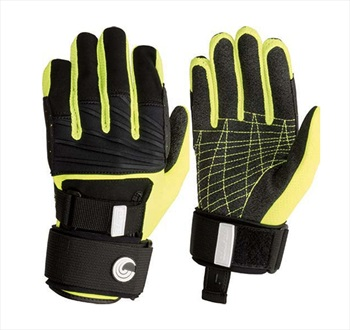 Connelly Claw 3.0 Waterski Wakeboard Gloves, Small Black Yellow
