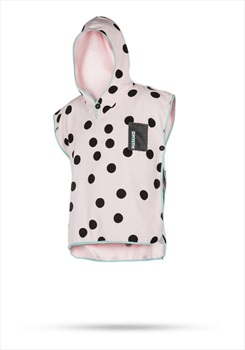 Mystic Children's Towelling Poncho, Kids Pink With Black