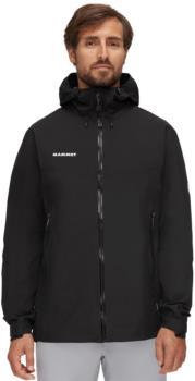 Mammut Adult Unisex Convey Tour Hardshell Hooded Waterproof Jacket, L Black/White