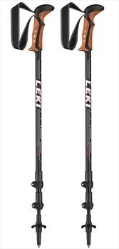 Leki Khumbu Adjustable Trekking Poles, 110-145cm Black/White
