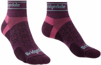 Bridgedale Trail Run Ultralight T2 Women's Merino Low Socks L Damson