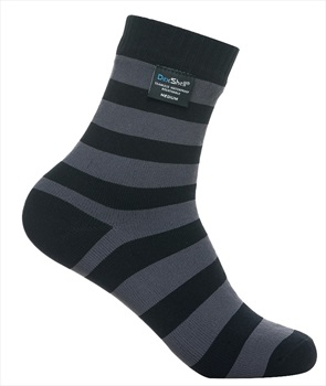 DexShell Ultra Lite Bamboo Waterproof Socks UK9-11 Stripe Black/Grey