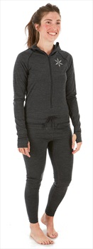 Airblaster Womens Merino Ninja Thermal Base Layer Suit, M, Black