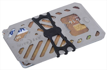 Nite Ize Financial Tool Multi Tool Wallet, 7 Tools Silver