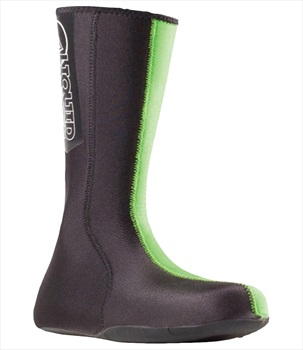 Liquid Force 1.5mm Neoprene Wetsuit Socks W/ Reinforced Sole, S Green