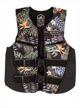 Liquid Force Koa Kids CGA Buoyancy Vest, Junior Black Jungle