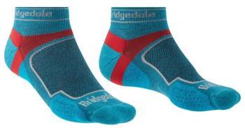 Bridgedale Ultralight T2 Sport Low Coolmax Trail Run Socks, XL Blue