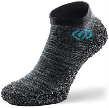 Skinners Athleisure Bare Foot Running Shoe Sock, XS Metal Grey