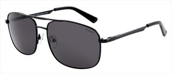 North Beach Saury Grey Polarised Sunglasses, Matte Black