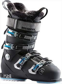 Rossignol Womens Pure Elite 90 Women's Ski Boots, 26/26.5 Night Black 2020