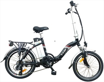 "Narbonne E-Scape E-Bike Folding Electric Bicycle, 20"" Black"