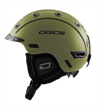 Dirty Dog Saturn Ski/Snowboard Helmet, M Matte Dark Khaki