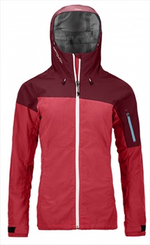 Ortovox Womens Corvara Jacket Waterproof Alpine Shell - L, Hot Coral