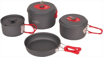 Bo-Camp Explorer 4 Cookware Compact Camping Cooking Set, 4 Pieces