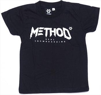 Method Classic Tee Kids Snowboarding T-Shirt, Age 5-6 Black
