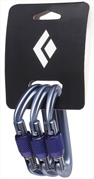 Black Diamond LiteForge Screwgate 3 Pack Climbing Carabiner Set Grey