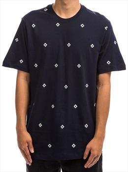 Nike SB Adult Unisex Icon Diamond Aop Short Sleeved T-Shirt, S Obsidian/Sail