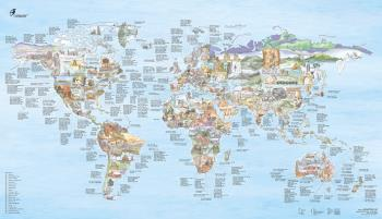 Awesome Maps Surftrip Map Surfing Spots Of The World Wall Map
