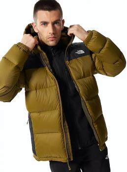 The North Face Adult Unisex Diablo Insulated Hooded Down Jacket, Xl Green/Black