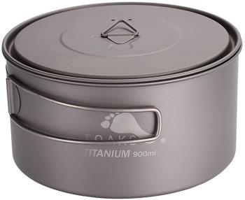Toaks Titanium Pot D130 Ultralight Camping Cookware, 900ml Grey