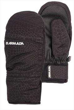 Armada Women's Capital Ski/Snowboard Mitts, XS Black Dragon Emboss