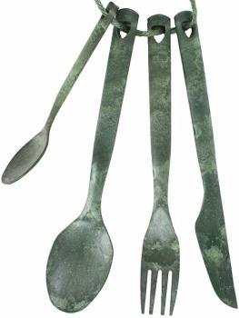 Kupilka Cutlery Set Eco-Friendly Camping Utensils, 4pcs Conifer