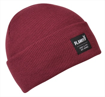 Planks Turn It Up Knitted Beanie Hat, One Size Plum
