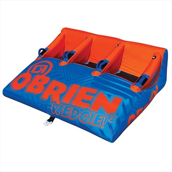 O'Brien Wedgie Seated Towable Inflatable Tube, 3 Rider Blue Orng 2021