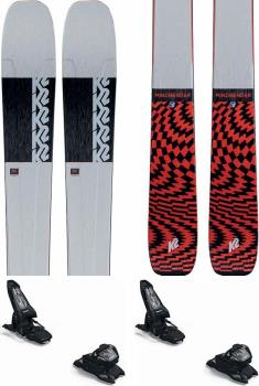 K2 Mindbender 90Ti Marker Griffon 13ID Skis, 170cm Grey/Red 2021