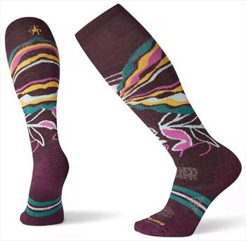 Smartwool PhD® Ski Medium Pattern Women's Ski Socks, S Bordeaux