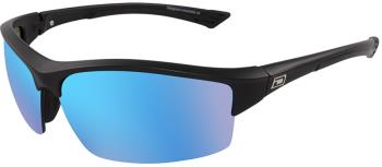 Dirty Dog Sport Sly Grey/Ice Blue Mirror Sunglasses, M Satin Black