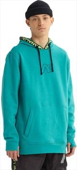 Analog Crux Pullover Ski/Snowboard Tech Hoodie L Green/Blue Slate
