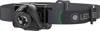 Led Lenser MH6 Headlamp IPX6 Rechargable Head Torch, 200 Lumens Black