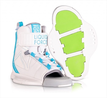 Liquid Force Dream Kids Wakeboard Binding, UK 11-3 White Blue 2021