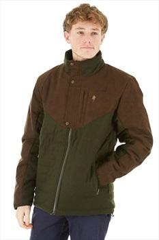Pinewood Edmonton Exclusive Padded Windproof Jacket, L Green/Brown
