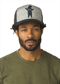 Prana Journeyman Trucker Graphic Baseball Cap, OS Charcoal Bear Hug