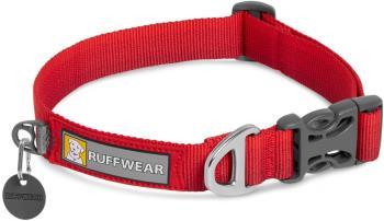 Ruffwear Front Range Collar Webbing Dog Collar, M Red Sumac