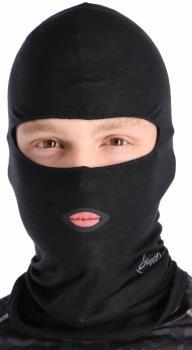 Buff Microfibre Balaclava Head Wear, One Size Solid Black