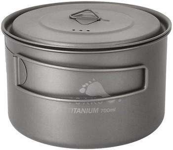 Toaks Light Titanium Pot Ultralight Camping Cookware, 700ml Grey