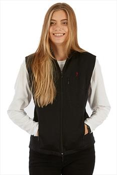 Silkbody Women's Bonded Silkfleece Vest Body Warmer Gilet, XS Black