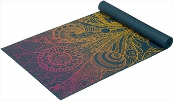 Gaiam Classic Printed Yoga/Pilates Mat, 4mm Vivid Zest