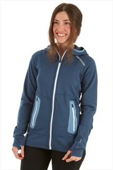 Ortovox Fleece Light Women's Full Zip Hoodie, S Night Blue