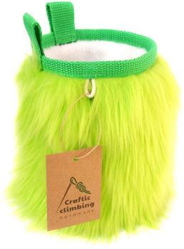 Crafty Climbing Furry Rock Climbing Chalk Bag, 50g Lime-Green