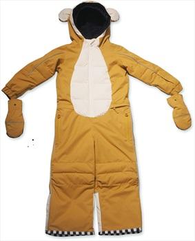 WeeDo Monkey Snow Suit & Mitts Kids Insulated Snow Onesie, 4-6 Years