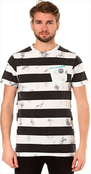 Neff Christoph Washed Stripe Short Sleeve T-Shirt, L White
