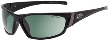 Dirty Dog Stoat Green Polarized Sunglasses, L Black